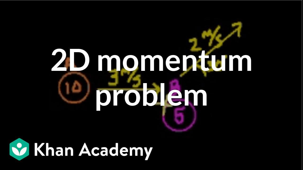 2 Dimensional Momentum Problem Video Khan Academy
