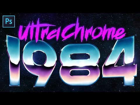 How to Create Super Rad 80's Chrome in Photoshop!