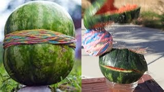 Trying 10 WATERMELON LIFE HACKS by 5 minut