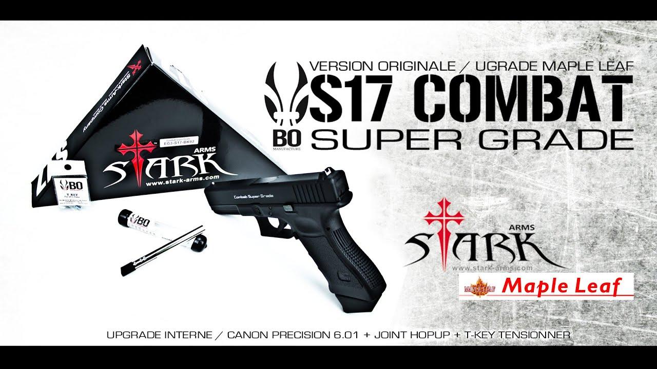 s17 combat super grade stark arms bo manufacture maple leaf