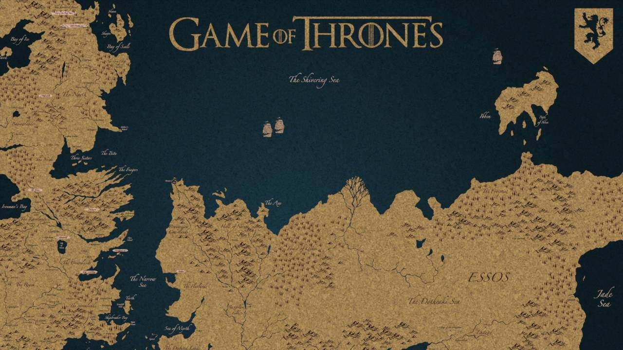 Mapa de Westeros + Essos (Game of Thrones) - Árbol de ...
