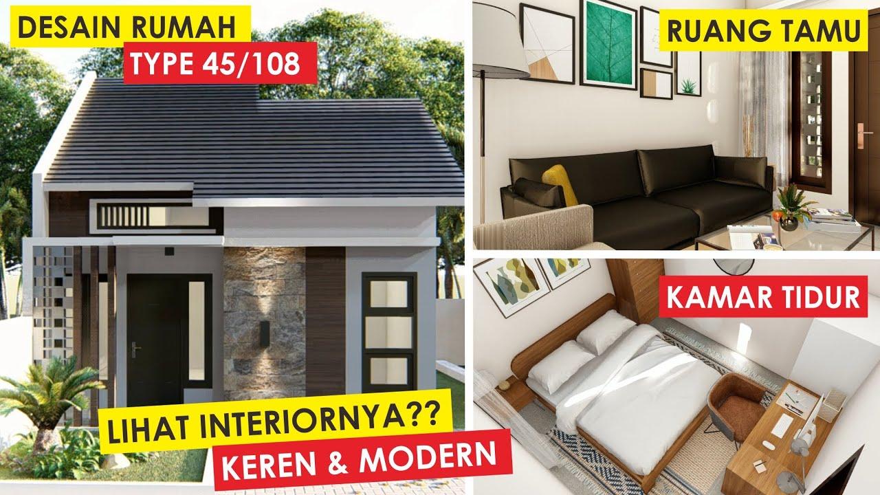Desain Rumah Minimalis Type 45 Home Tour Modern Interior Design Youtube Rumah minimalis modern type 45