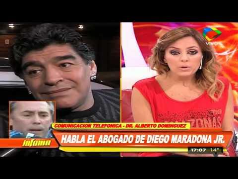 En medio del escándalo, Diego Junior quiere ver a Maradona