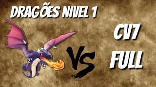 DRAGÕES NVL 1 CONTRA CV7 FULL - CLASH OF CLANS