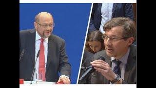 Martin Schulz aus dem Konzept gebracht:
