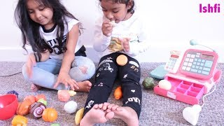 Ishfi's Play Time with Toy Vegetable and Fruit along  Friend
