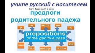 Русский язык - предлоги родительного падежа - грамматика