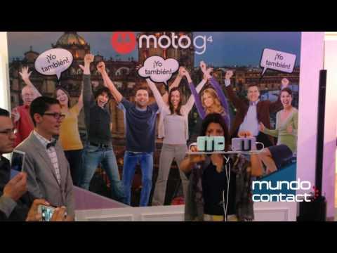Presentación en México de los nuevos smartphones Moto G4 de Motorola