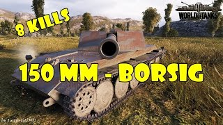 World Of Tanks - PURE Gameplay [Rhm.-Borsig Waffenträger - 15cm | 8 KILLS By Mawi29]