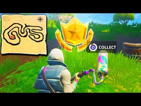 Follow the Treasure Map Found in Salty Springs Location! Fortnite Week 3 Battle Pass Challenge Fast