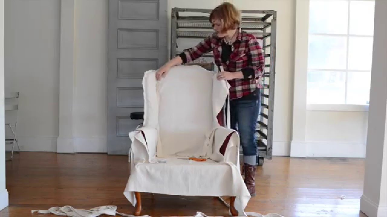 How To Make A Slipcover | Part 4 | Wings, Arms, Seat U0026 Apron   YouTube