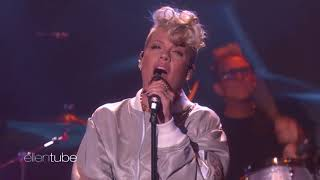 P!nk - What About Us (Live On The Ellen DeGeneres Show)