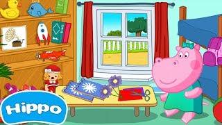 Hippo   Kindergarten Kunst Hausaufgaben   Cartoon-Spiel für Kinder