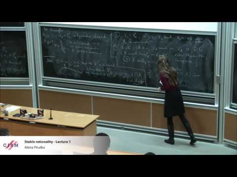Alena Pirutka: Stable rationality - Lecture 1