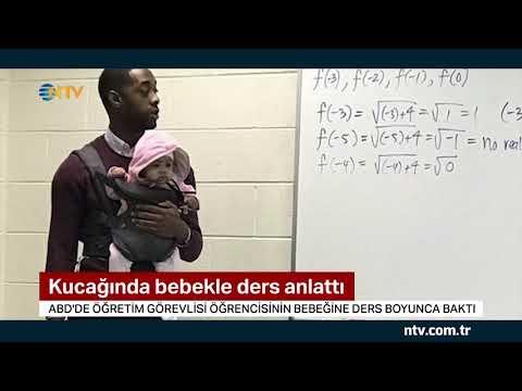 Kucağında Bebekle Ders Anlattı ... (Bu Fotoğraf Karesi Sosyal Medyanın Gündeminde)