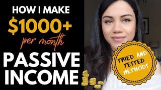 Passive Income: How I Make Over £3000+ A Month (4 Passive Income Ideas)