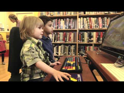 AWE Early Literacy Stations at the Shelburne Public Library in Ontario, Canada