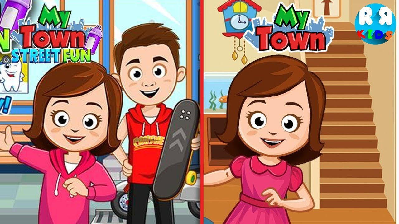 my town street fun and my town home dollhouse the new app and old app youtube my town street fun and my town home dollhouse the new app and old app