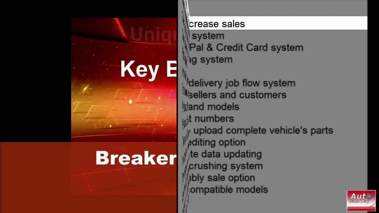 Free New and Used car parts online sale software and Breaker Yard ...