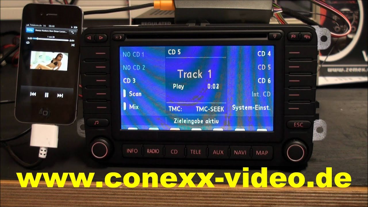 zemex v3 usb ipod iphone auto interface demo by conexx. Black Bedroom Furniture Sets. Home Design Ideas