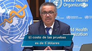 La Organización Mundial de la Salud anunció este lunes un acuerdo para distribuir 120 millones de pruebas rápidas de Covid-19 a los países en desarrollo
