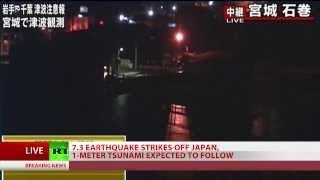 7.3 quake hits Japan, Fukushima evacuated over tsunami alert