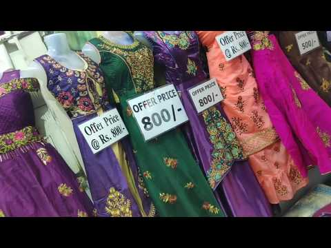 OFFER PRICE FLAT 500 RS GRAND ANARKALI CHURIDAR WHOLESALE SHOP T NAGAR/THEAN MITTAI CHANNEL from YouTube · Duration:  10 minutes 54 seconds