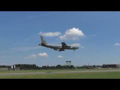 aviation USAF KC135 Tanker 00356 dirty tail lands  RAF Mildenhall 19june2017 1140a