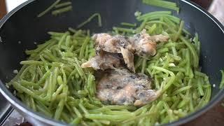 [여름]밥한그릇 알차게 비우는 고구마줄기 볶음. 냉장고…