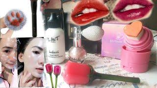 Распаковка косметики с Алиэкспресс и Макияж с их участием Plant series Fana Beauty HANDAIYAN