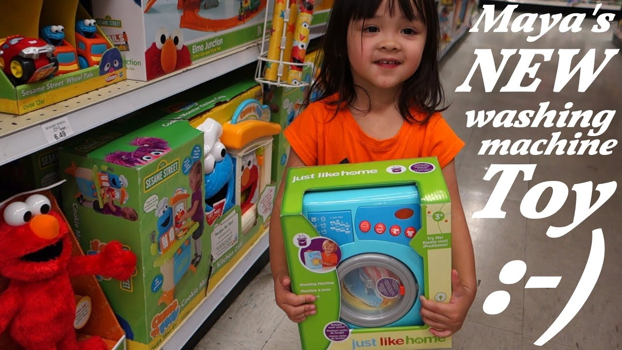 Machine Toys For Girls : Little girl s toy laundry washing machine home
