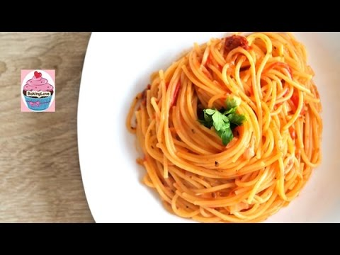 leckere one pot pasta in tomaten sahne so e i spaghetti i schnell einfach youtube. Black Bedroom Furniture Sets. Home Design Ideas