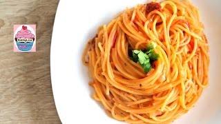 Leckere One Pot Pasta in Tomaten-Sahne-Soße I Spaghetti I schnell & einfach