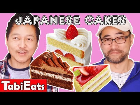 WE TRY EVERY CAKE from a JAPANESE Cake Shop