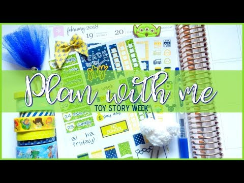 Plan with me in my Erin Condren Life Planner | Toy Story