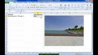 Excel - Using Google Maps API
