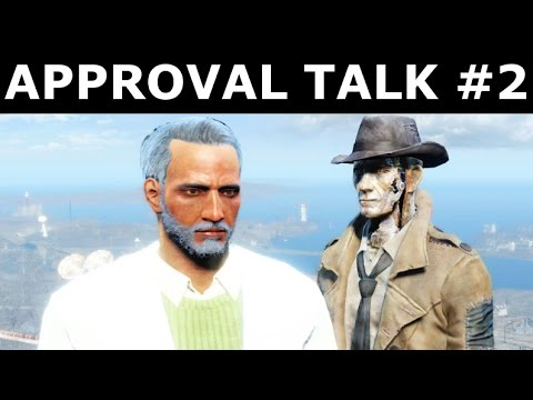 Fallout 4 Far Harbor - Nick Valentine - Second Approval Talk (New Unique Lines - DiMA References)