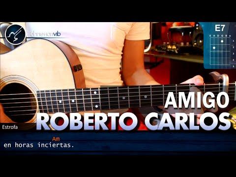 """Cómo tocar """"Amigo"""" de Roberto Carlos en guitarra (HD) Tutorial COMPLETO - Christianvib"""