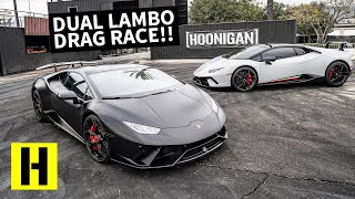 $500k Supercharged Lambo Space Race Almost Ends in Disaster!