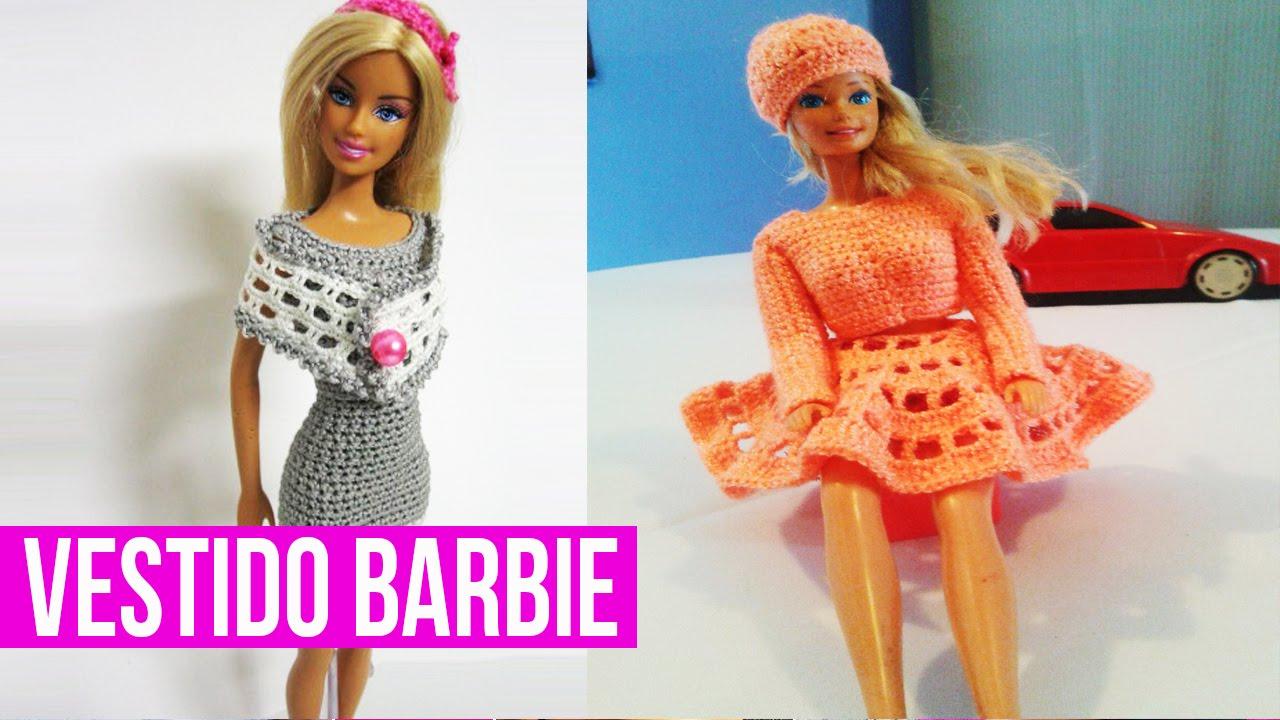 Vestidos para barbie a gancho