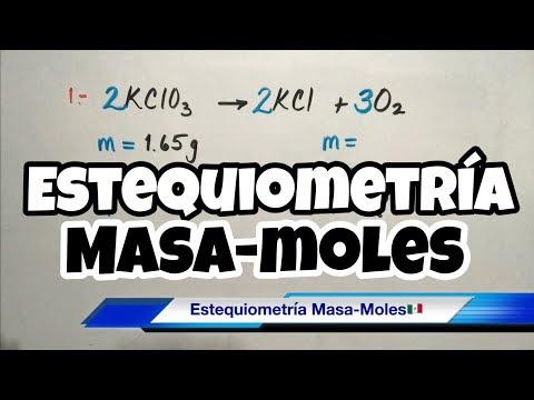 ESTEQUIOMETRÍA Masa-Mol (paso a paso)