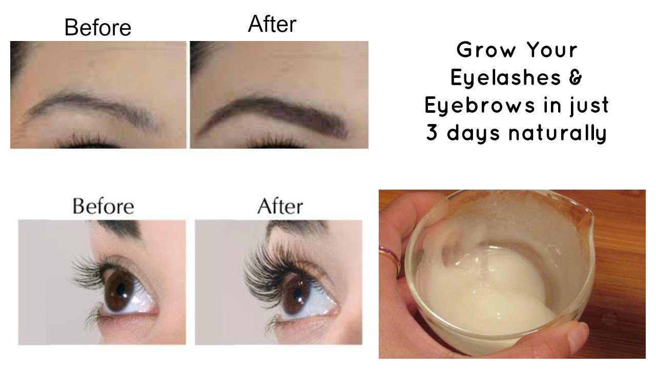grow your eyelashes & eyebrows in just 3 days | eyelash and eyebrow