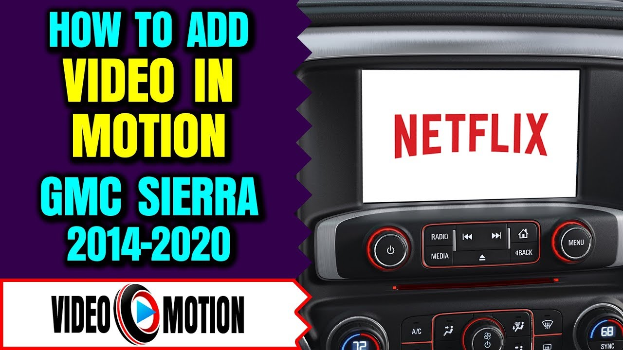 GMC Sierra 2014-2019 Intellilink Video In Motion While Driving Bypass DVD  USB GM Interface LockPick