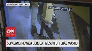 Duh! Sepasang Remaja Berbuat Mesum di Masjid Terekam CCTV
