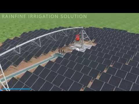 New invention of Rainfine solar powered pivot