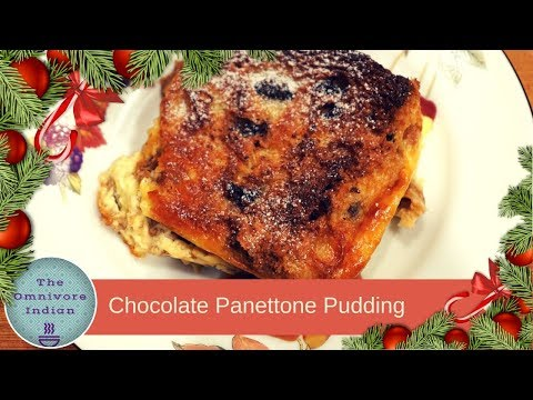 Chocolate Panettone Pudding - Christmas Special Dessert Recipe