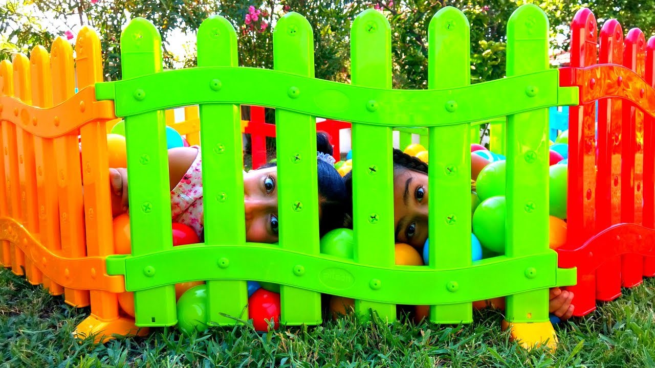 Esma and Asya new Playpen pretend play with for kids  video