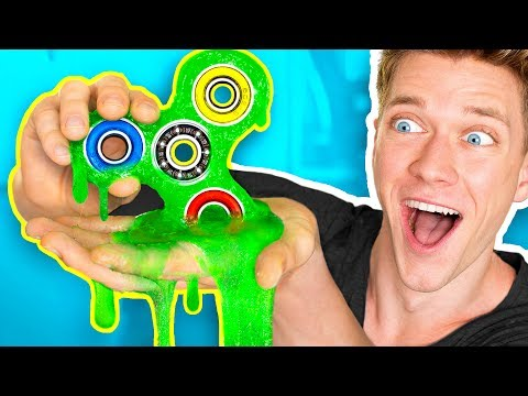 Thumbnail: DIY Slime Fidget Spinner That ACTUALLY SPINS!!! How To Make Rare Giant Fidget Spinners Toys & Tricks