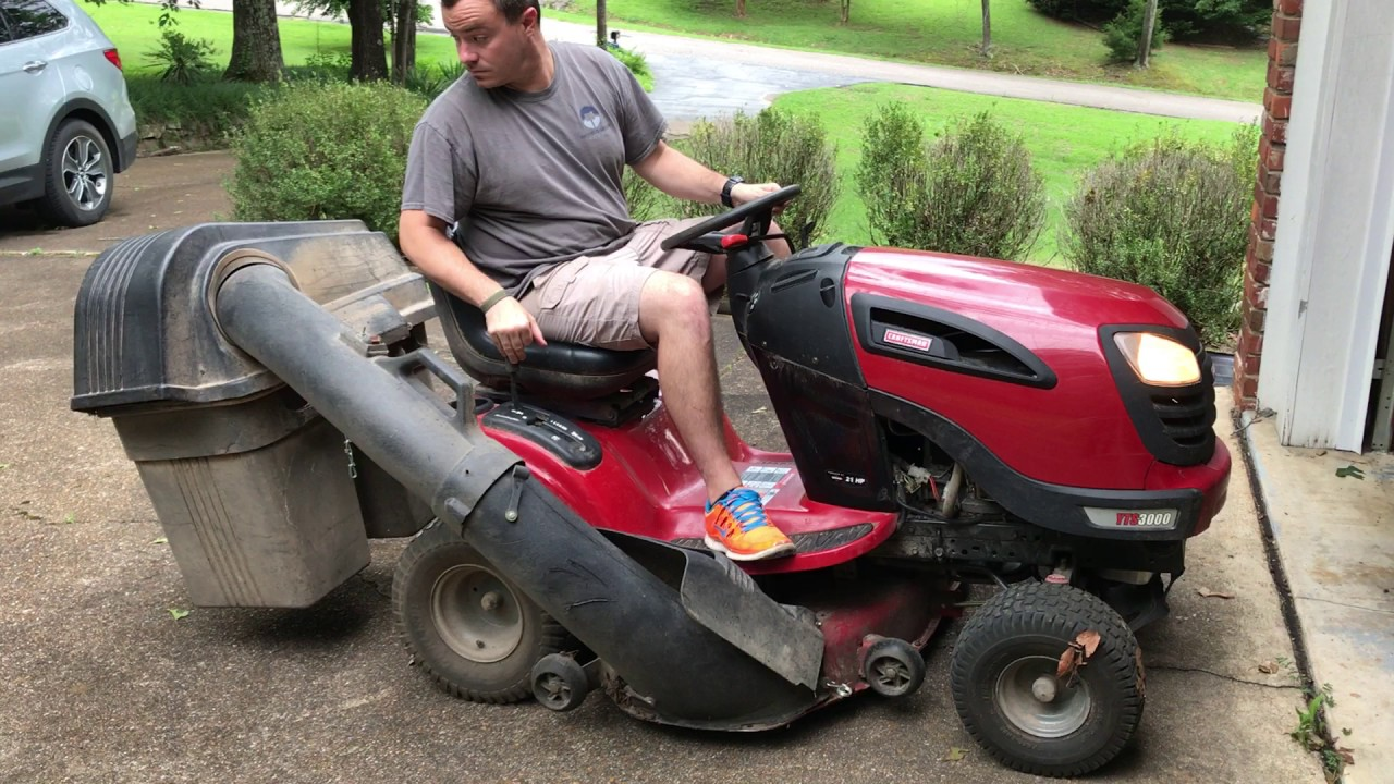 Craftsman Riding Mower With Bagger Youtube