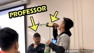 ACTING DRUNK IN LECTURE PRANK